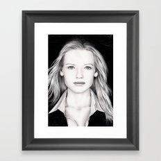 ANNA TORV - OLIVIA DUNHAM Framed Art Print