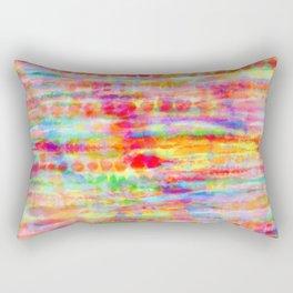 Light Rainbow Tie Dye Stripes Rectangular Pillow