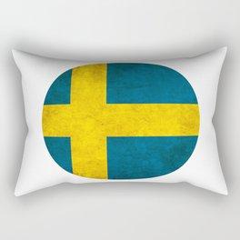 Sweden flag, circle Rectangular Pillow
