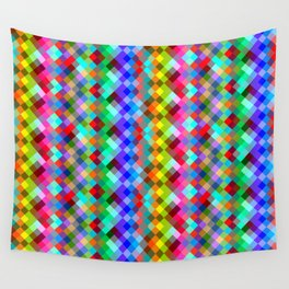 Multicolored pixels Wall Tapestry