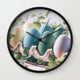 Easter Eggs 23 Wall Clock