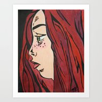 Maroon Art Print