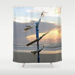 Migratory Birds Shower Curtain