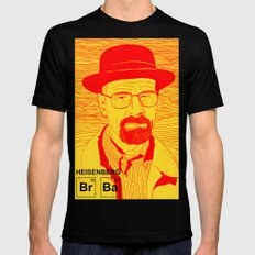 Walter White A.K.A. Heisenberg SMALL Mens Fitted Tee Black