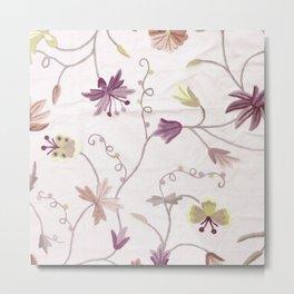 Custom Elegant Floral Pattern Metal Print