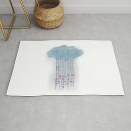 Rain in the woods Rug