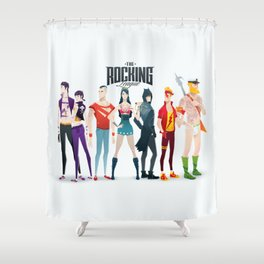 the rocking league Shower Curtain