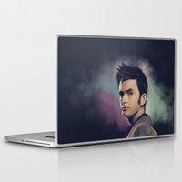 david tennant Laptop & iPad Skins featuring David Tennant - Doctor Who by KanaHyde