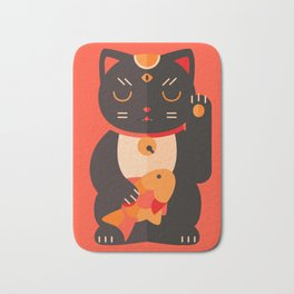 Beckoning Cat Bath Mat