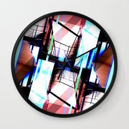 Blue & Pink Cristal Light Wall Clock