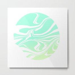 Round marble Metal Print