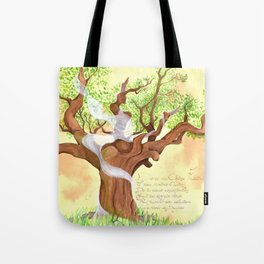 The concentrated Lady of the Oak Tote Bag
