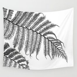 Charcoal Tree Fern Bottoms Up Wall Tapestry