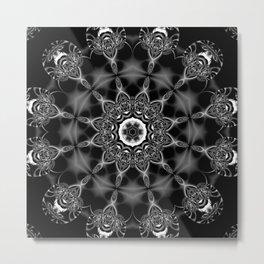 Mystic Night w/ Black and White Mandala Metal Print