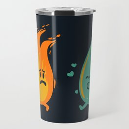 Impossible Love (fire and water kiss) Travel Mug