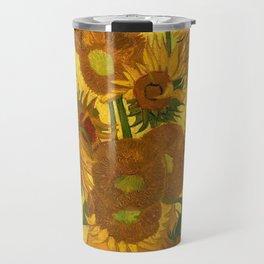 Vincent Van Gogh Fifteen Sunflowers In A Vase Travel Mug