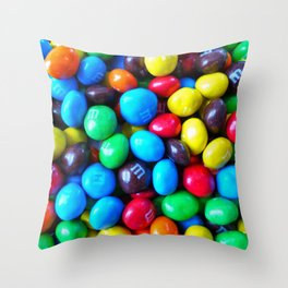 Crispy Colorful Candy Throw Pillow