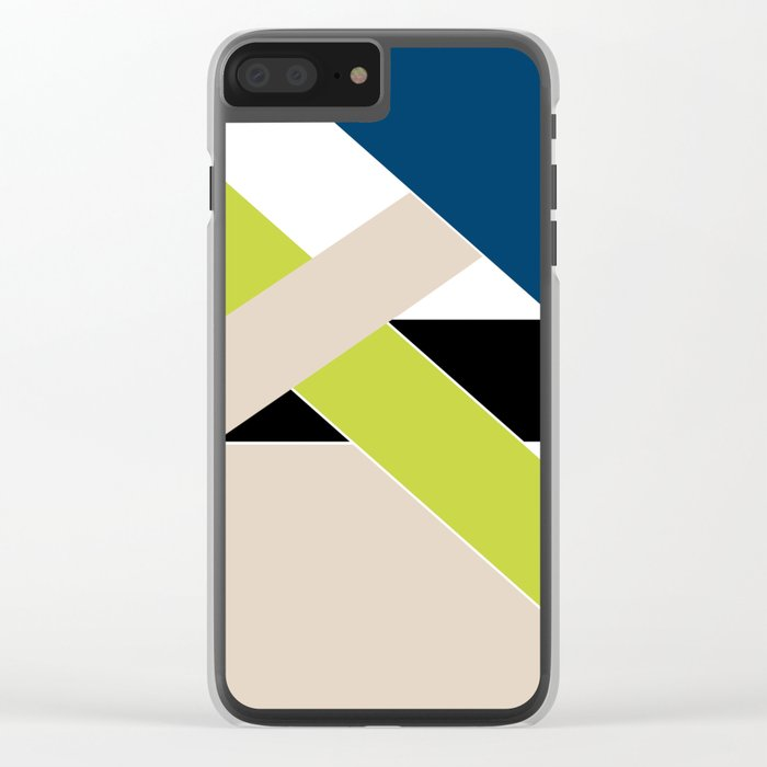 Abstract pattern . Geometric shapes .1 Clear iPhone Case