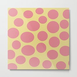 Bubbles of Strawberry Ice and Custard Metal Print