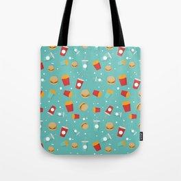 Burgers pattern Tote Bag