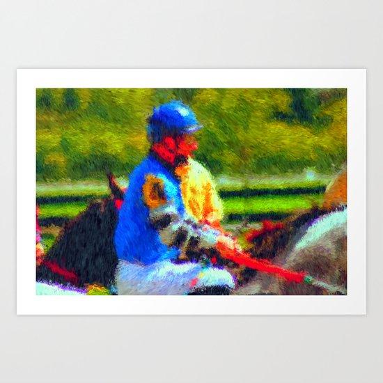 The Jockey Art Print