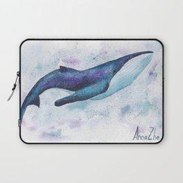 Big space whale illustration Laptop Sleeve