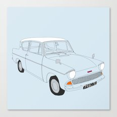 Weasley's Flying Ford Anglia Canvas Print