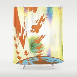 Sonic Invasion 2 Shower Curtain