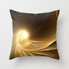 Golden Spiral Throw Pillow
