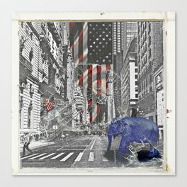 Elephant in New York Picture Canvas Print