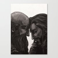 solid Canvas Prints featuring solid by kassanaka