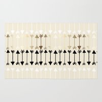 arrows Area & Throw Rugs featuring Arrows by Tangerine-Tane