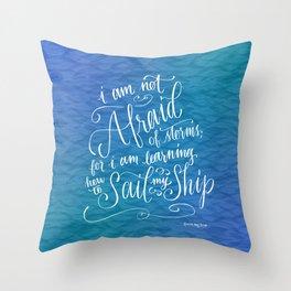 Sail My Ship Throw Pillow