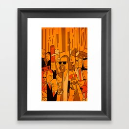 The Big Lebowski (variant aspect ratio) Framed Art Print