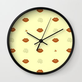 Rosy Haze Wall Clock