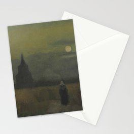 Vincent van Gogh - The Old Tower at Dusk Stationery Cards