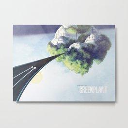 Green Plant - F-Zero GP Metal Print