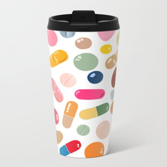 Sunny Pills Metal Travel Mug