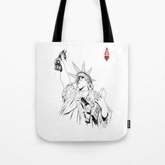 freedom...black & white Tote Bag
