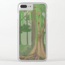 (Literal) Wood Nymph Clear iPhone Case