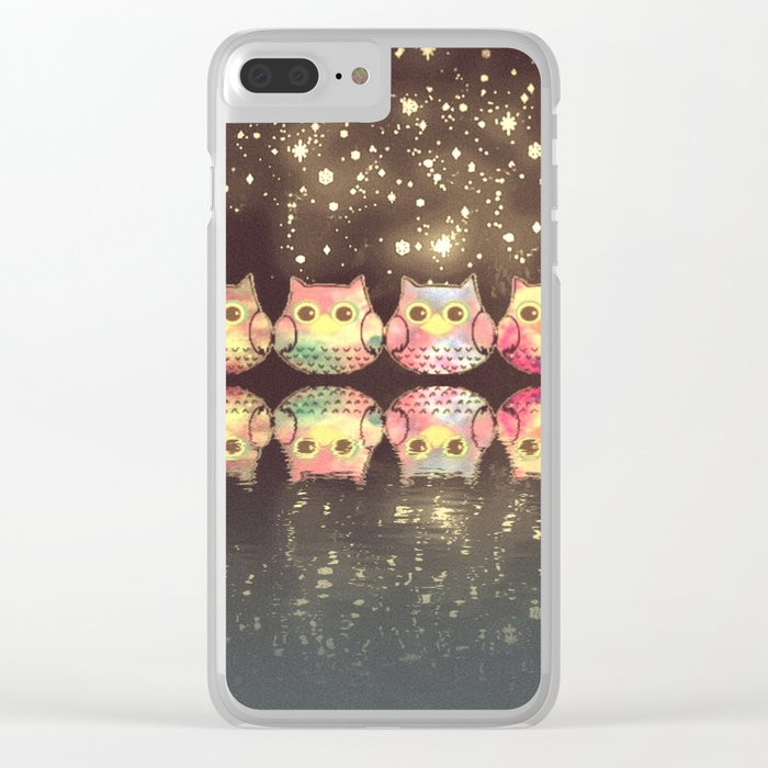 owl-184 Clear iPhone Case