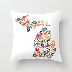 Michigan Colors Throw Pillow