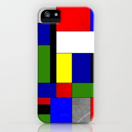 Mondrian #4 iPhone Case