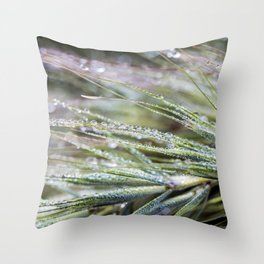 dewy weed Throw Pillow
