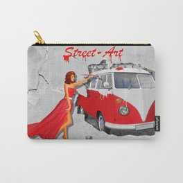 Street-Art in Digital-Art Carry-All Pouch