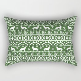 Cavalier King Charles Spaniel fair isle christmas pattern winter snowflakes dog breed Rectangular Pillow