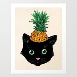 Pineapple Kitty Art Print