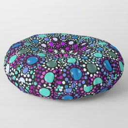 Mesmerize - Turquoise & Purple Mandala Floor Pillow