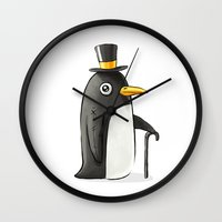 penguin Wall Clocks featuring Penguin by Freeminds