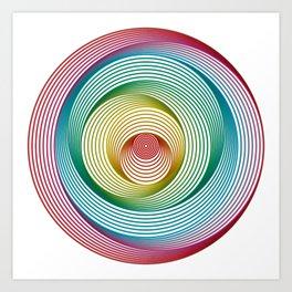 Shifting Circles Art Print
